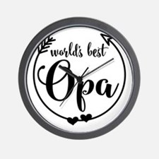 World's Best Opa Wall Clock