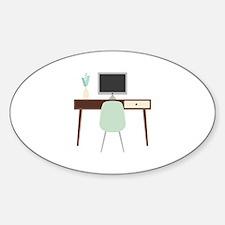 Midcentury Modern Desk Decal