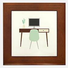 Midcentury Modern Desk Framed Tile