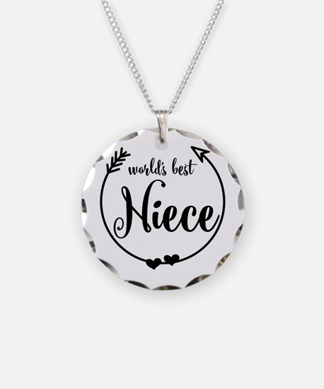 World's Best Niece Necklace Circle Charm