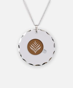Latte Coffee Art Necklace