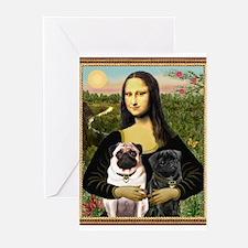 Cute Pug Greeting Cards (Pk of 10)