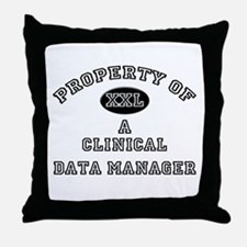 Property of a Clinical Data Manager Throw Pillow
