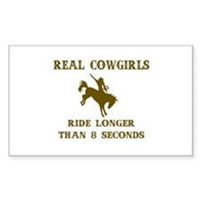 Real Cowgirls Rectangle Decal