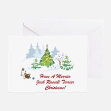 Jack Russell Terrier Xmas Greeting Card