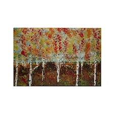 Unique Autumn birch Rectangle Magnet