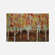 Cute Autumn birch Rectangle Magnet