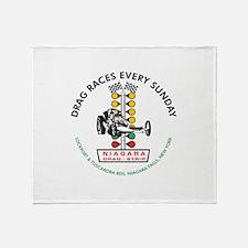 Niagara Drag Strip Throw Blanket