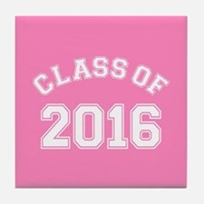 Pink Class Of 2016 Tile Coaster