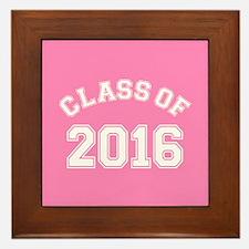 Pink Class Of 2016 Framed Tile