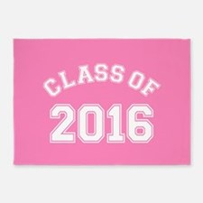 Pink Class Of 2016 5'x7'Area Rug