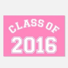 Pink Class Of 2016 Postcards (Package of 8)