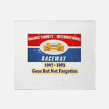 Orange County International Raceway Throw Blanket