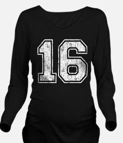 Retro Style 16 Long Sleeve Maternity T-Shirt