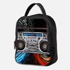 Unique Boom box Neoprene Lunch Bag