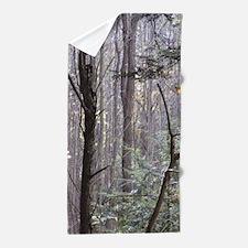 Scenery Of Trees Beach Towel