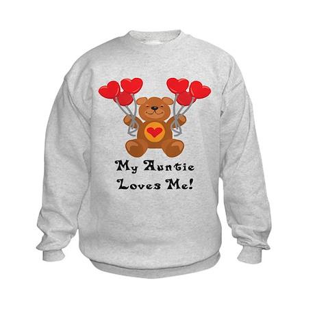 My Auntie Loves Me! Kids Sweatshirt