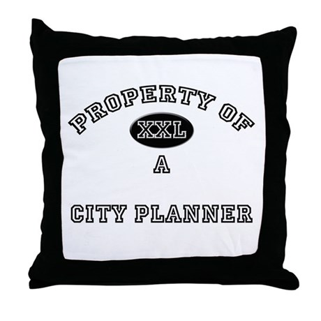 Property of a City Planner Throw Pillow