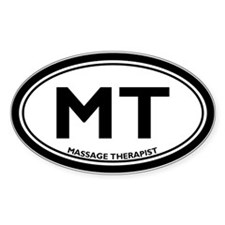 Massage Therapist Oval Decal