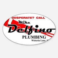 Mike Delfino Oval Decal