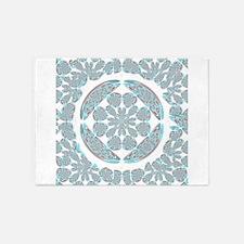 Symmetrical abstract 5'x7'Area Rug