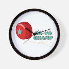 Yo-Yo Champ Wall Clock
