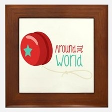 Around The World Framed Tile