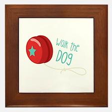 Walk The Dog Framed Tile