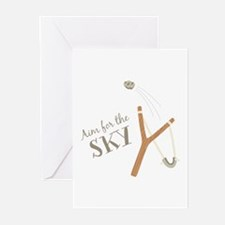 Aim For Sky Greeting Cards
