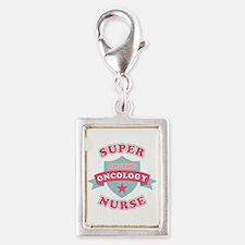 Super Oncology Nurse Silver Portrait Charm