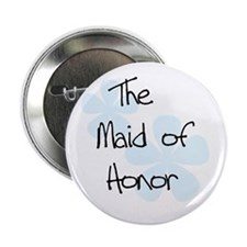 Maid Honor Blue Button