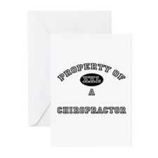 Property of a Chiropractor Greeting Cards (Pk of 1