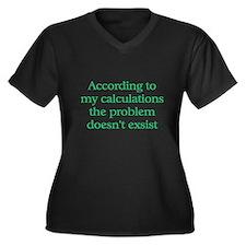 Accountant Women's Plus Size V-Neck Dark T-Shirt