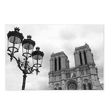 Unique Black white paris Postcards (Package of 8)