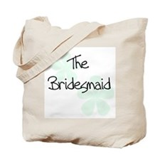 The Bridesmaid Green Flowers Tote Bag