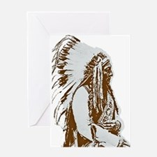 Native American Chief Greeting Card