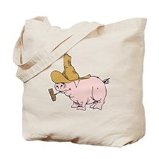 Hillbilly Country Pig Tote Bag