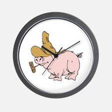 Hillbilly Country Pig Wall Clock