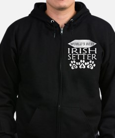 World's Best Irish Setter Dad Zip Hoodie
