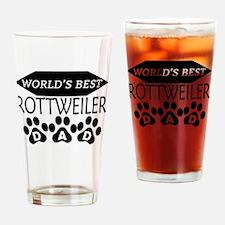 World's Best Rottweiler Dad Drinking Glass