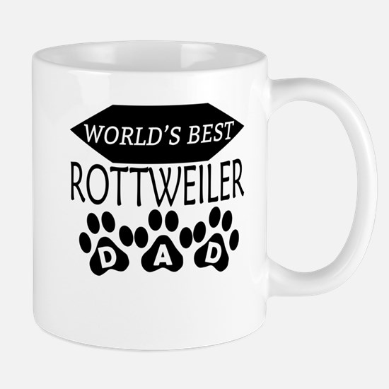 World's Best Rottweiler Dad Mugs
