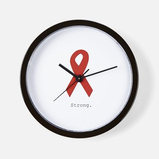 Red Ribbon: Strong. Wall Clock