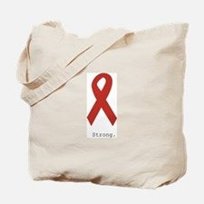 Red Ribbon: Strong. Tote Bag