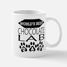 World's Best Chocolate Lab Dad Mugs