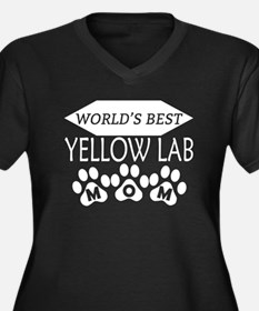 World's Best Yellow Lab Mom Plus Size T-Shirt