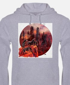 Unique Wolf painting Hoodie