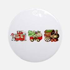 Christmas Train Ornament (Round)