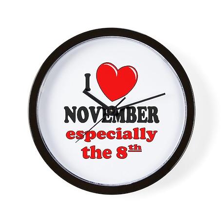 November 8th Wall Clock