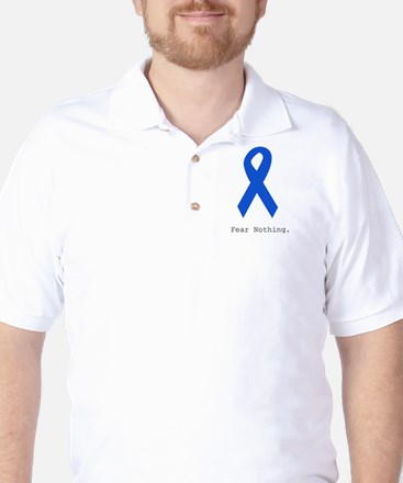 Blue: Fear Nothing Golf Shirt