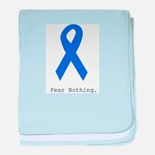 Blue: Fear Nothing baby blanket